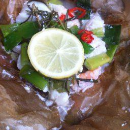 Fischpäckchen // Gegrillte Ananas